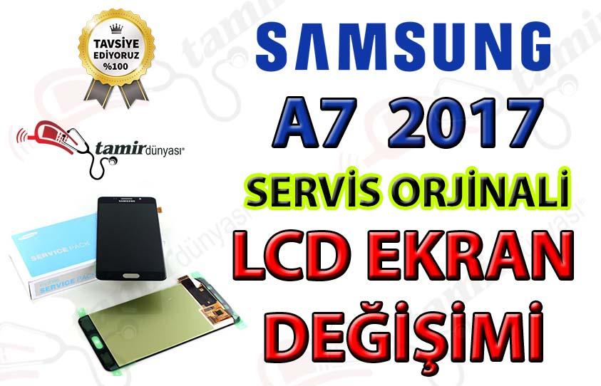 Samsung Galaxy A7 2017 A720f LCD Ekran değişim fiyatı
